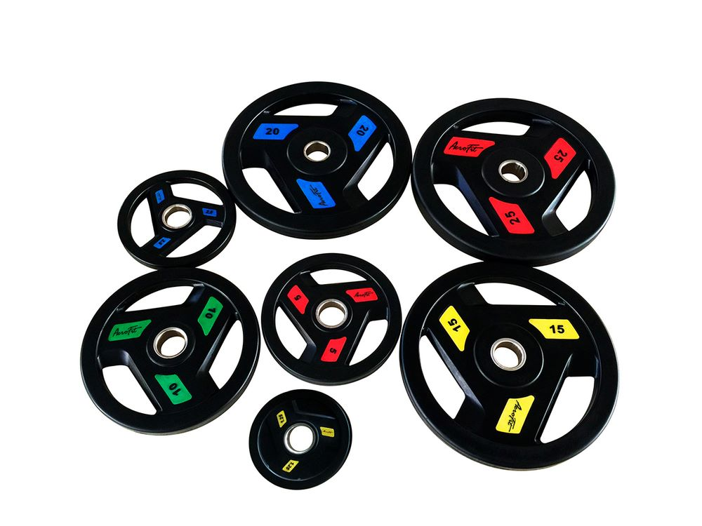AFPLC 1.25-25KG, Олимпийские обрезиненные диск, AeroFit